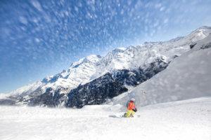 snowboard megeve ski school II - hors pistes